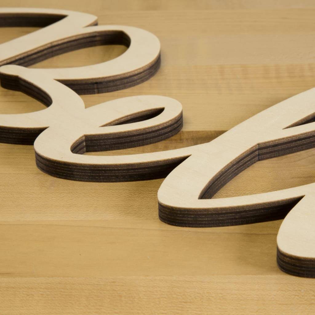 Script Wood Letters Cursive Wood Letters Craftcutscom