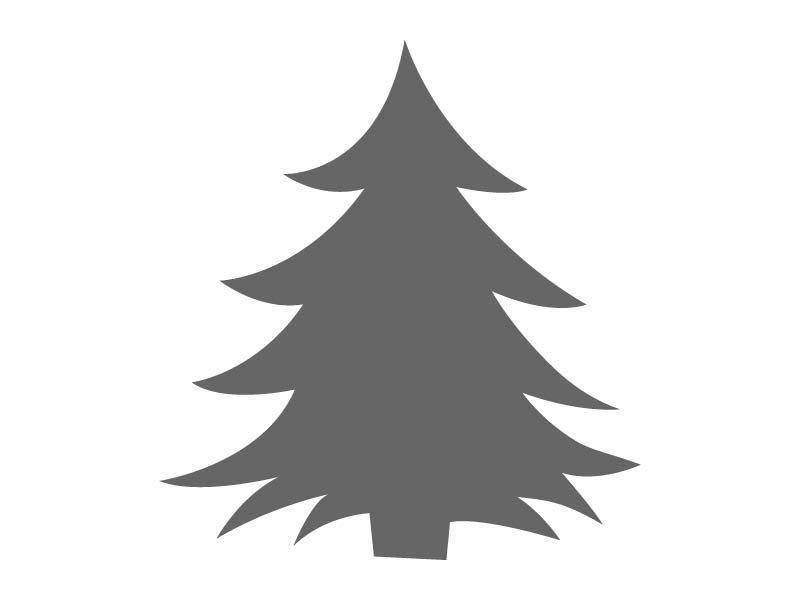 Happy Christmas Tree Stencil