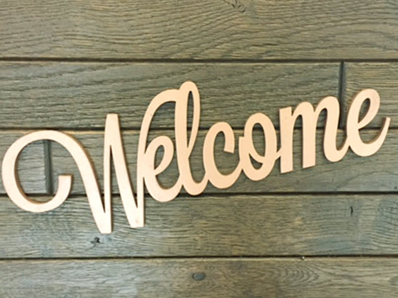 Welcome Wood Sign Letters Craftcuts Com