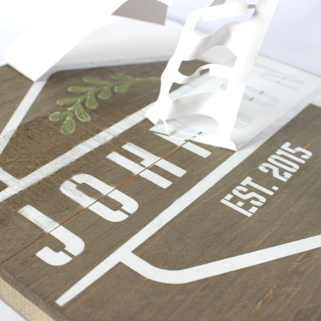 Custom Stencils for Wood Signs | Craftcuts com