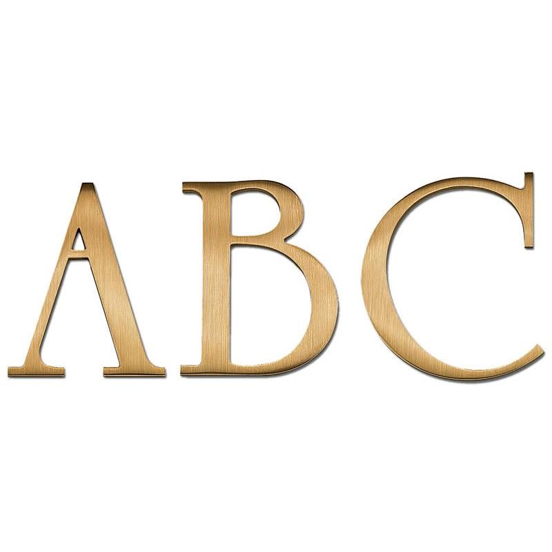 University Roman Bold Bronze Letters - Order Online - Best Value