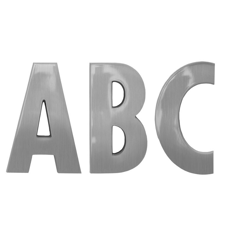 Futura Condensed Cast Metal Letters - Any Color, Any Size - Order Online