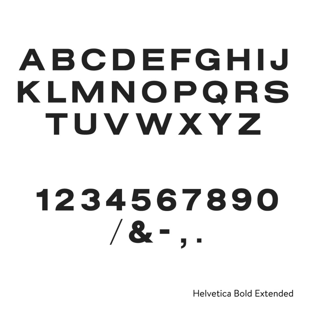 Helvetica Bold Extended Cast Metal Letters - Any Color, Any Size
