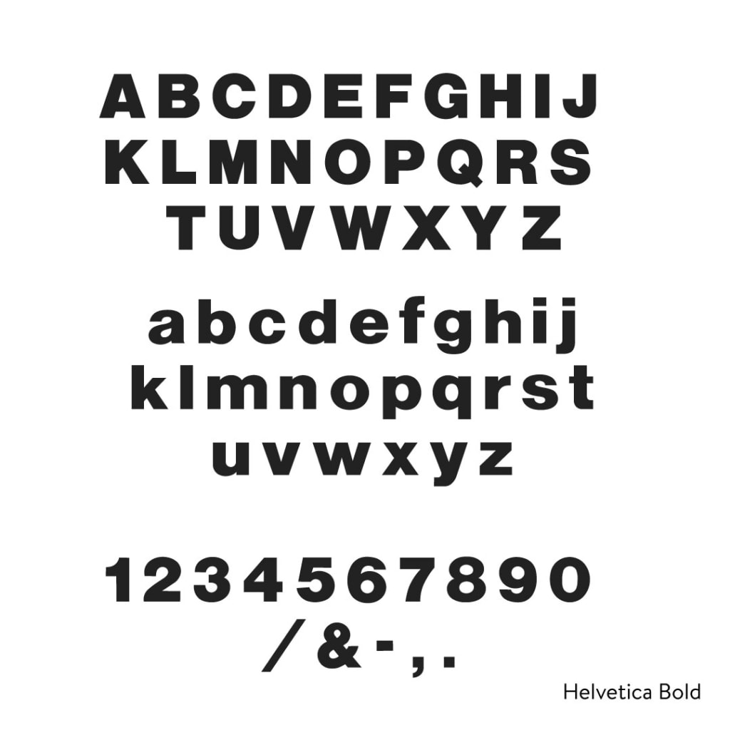 Helvetica Bold Cast Metal Letters - Any Color, Any Size | Woodland