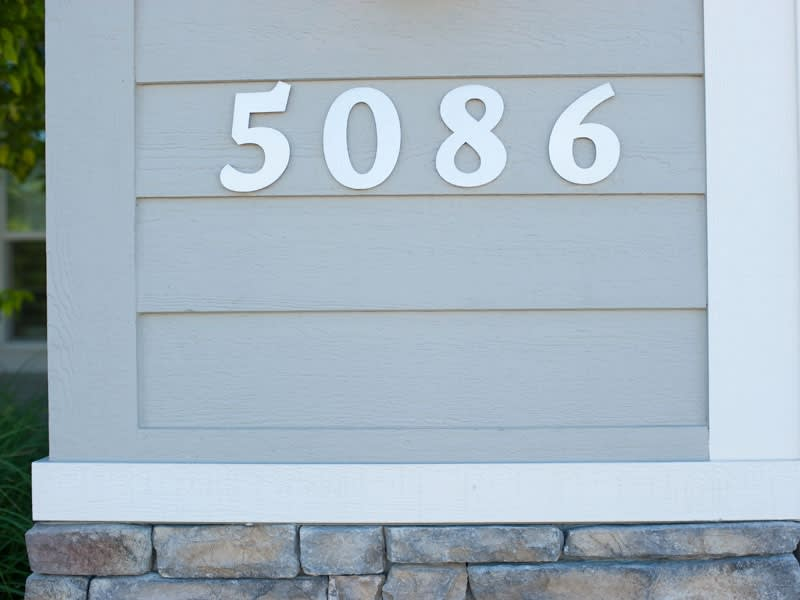 701055fe85a7 Aluminum Metal Numbers - Custom. Any Font. Any Size. | Woodland ...