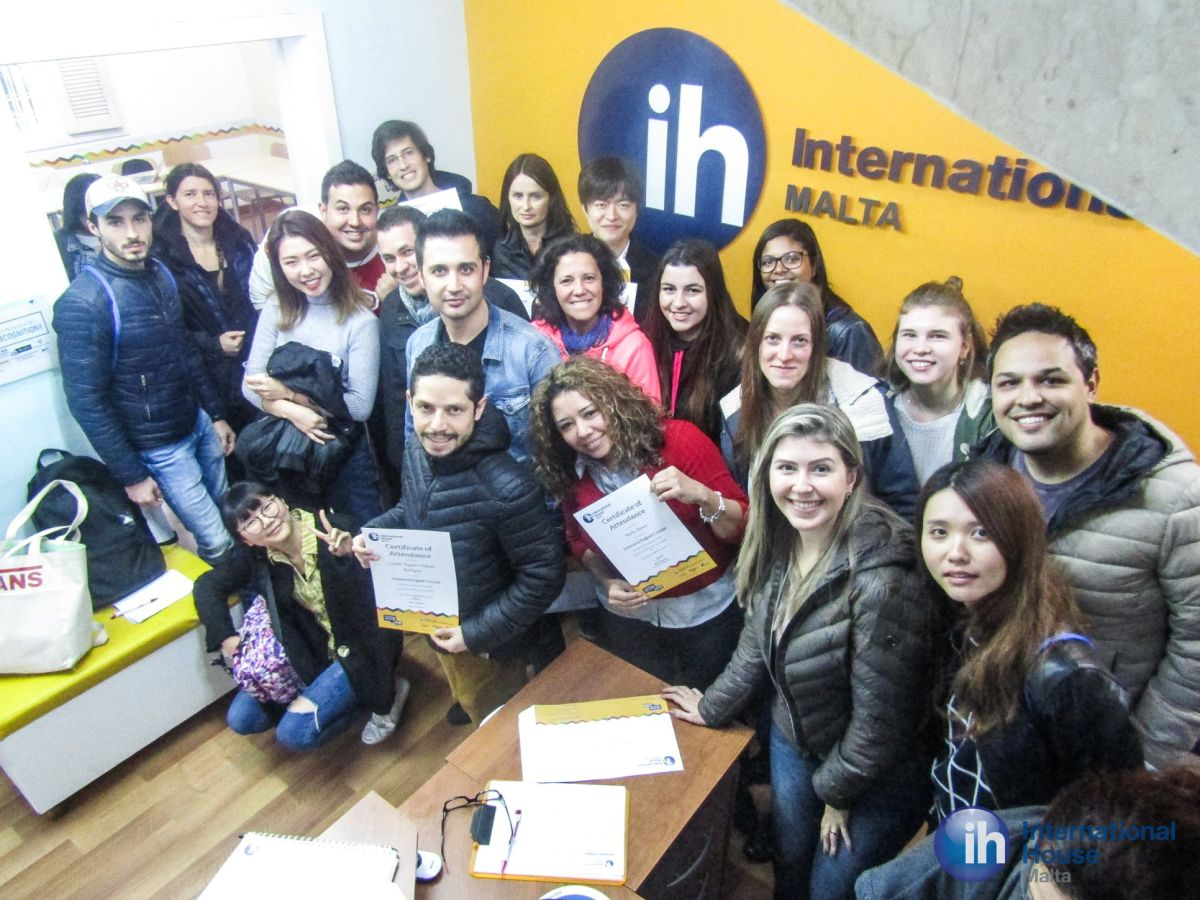 international house malta diploma students