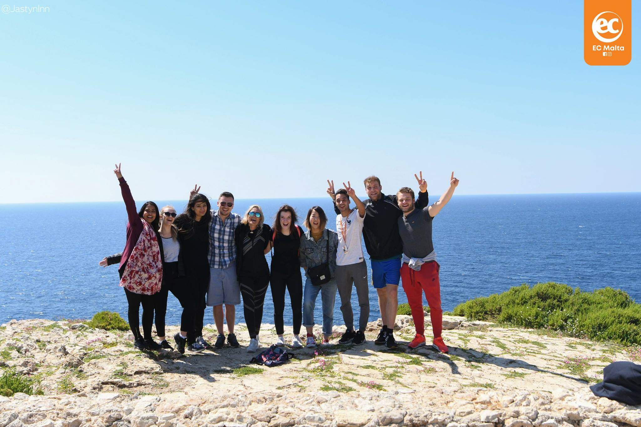 ec-malta students outside