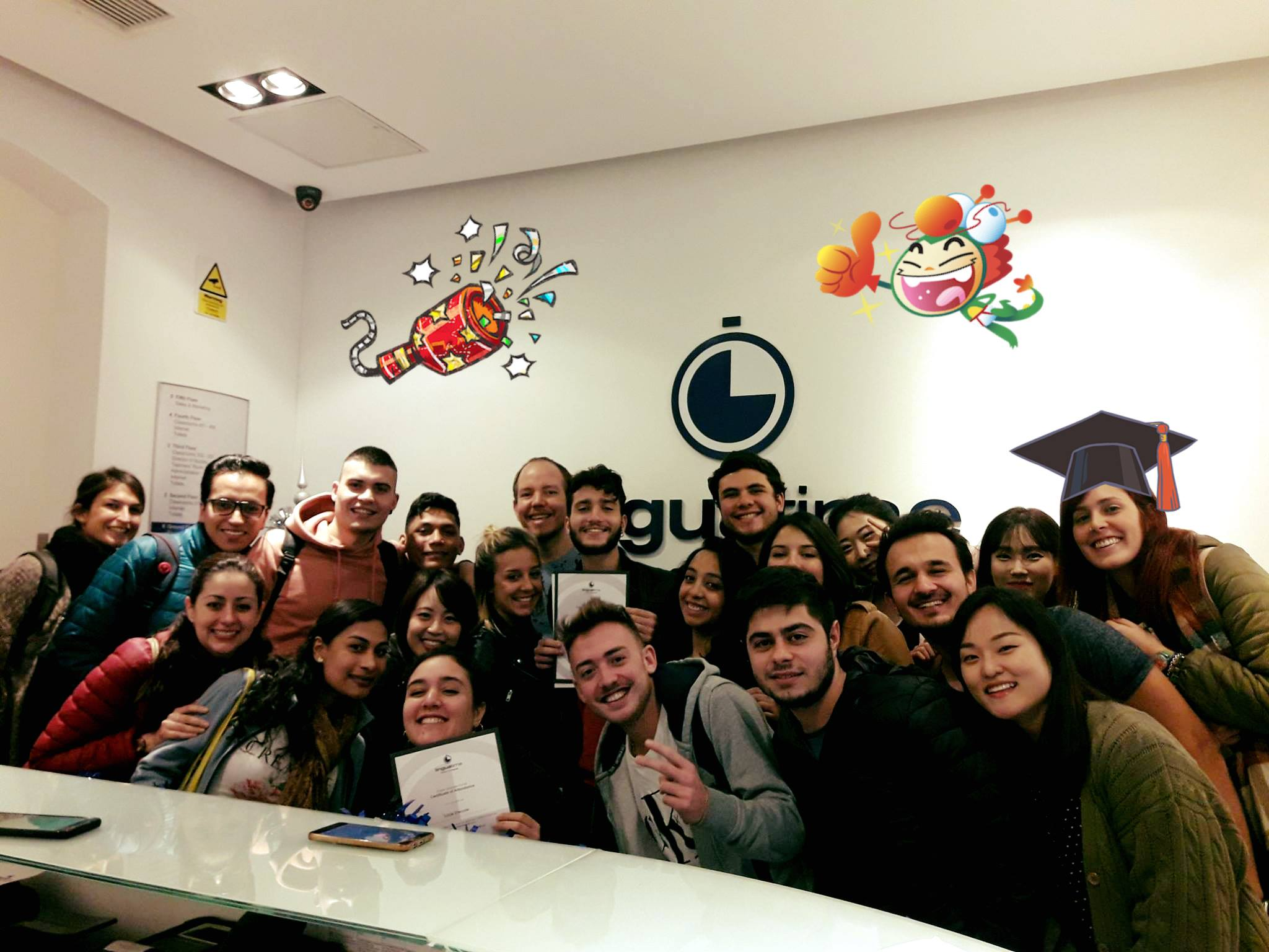 linguatime school malta students