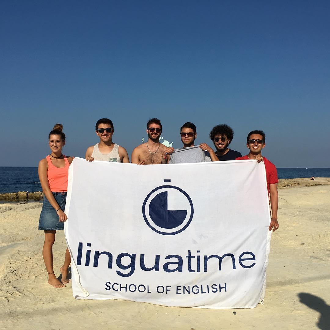 linguatime students flag