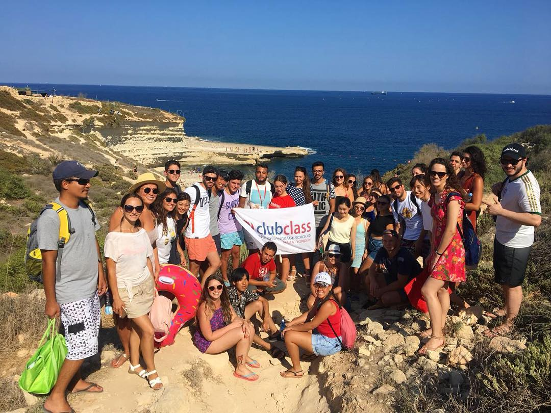 clubclass malta students hiking
