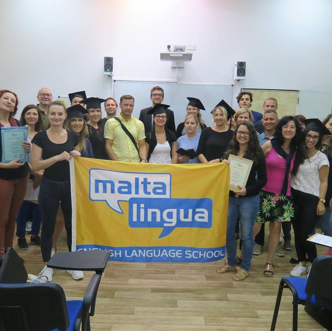 maltalingua students adult classroom