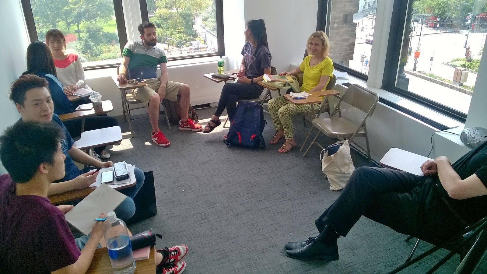 student classroom sprachcaffe new york