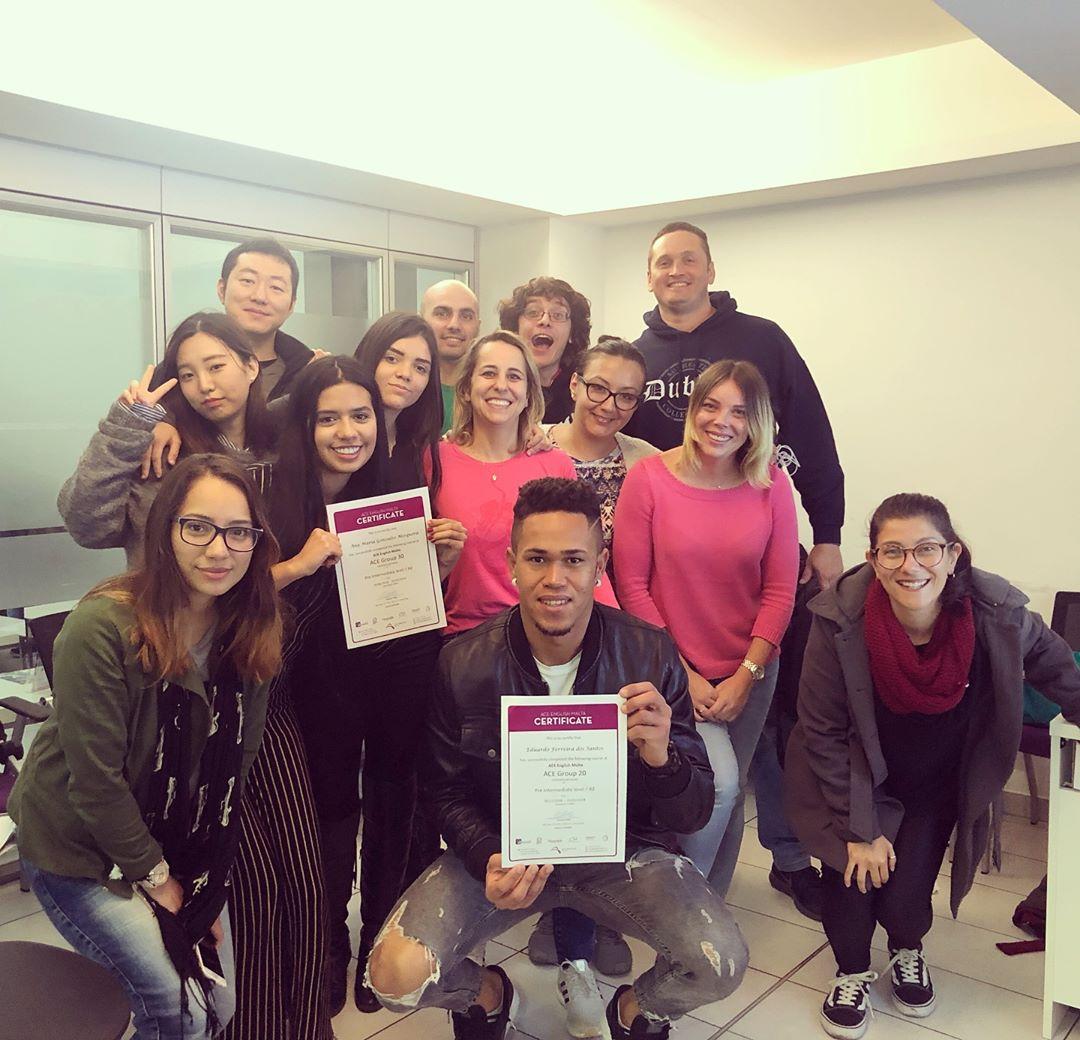 ace english school malta diploma anglais