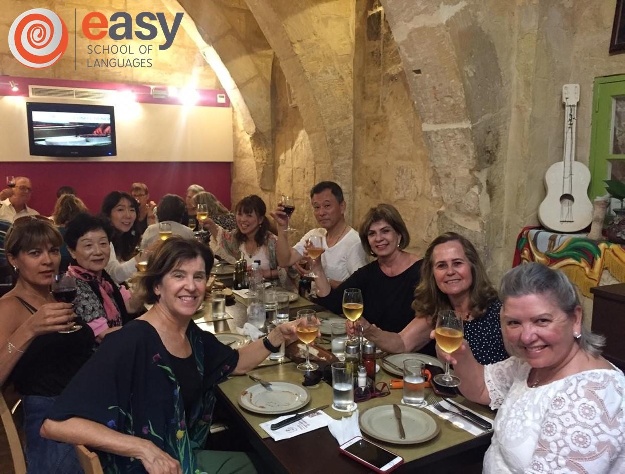 easy school languages malta students restaurant