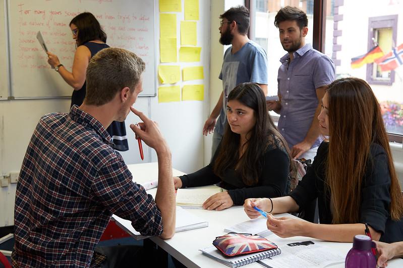 the english studio dublin students studing