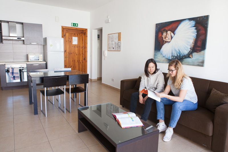 ec malta shared apartment speaking