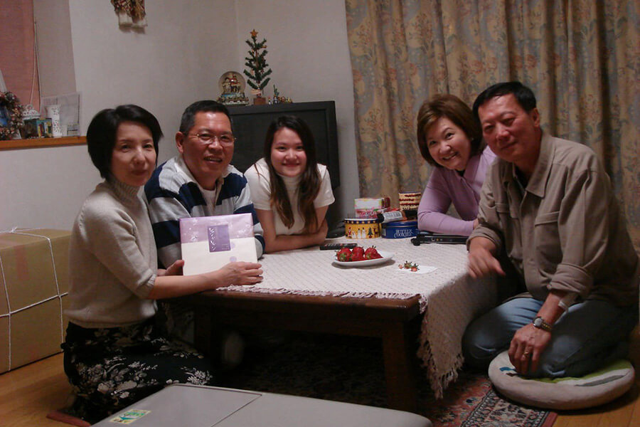 host familly tokyo student lunch