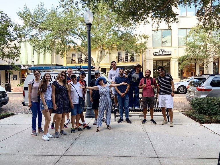 language on orlando student visit