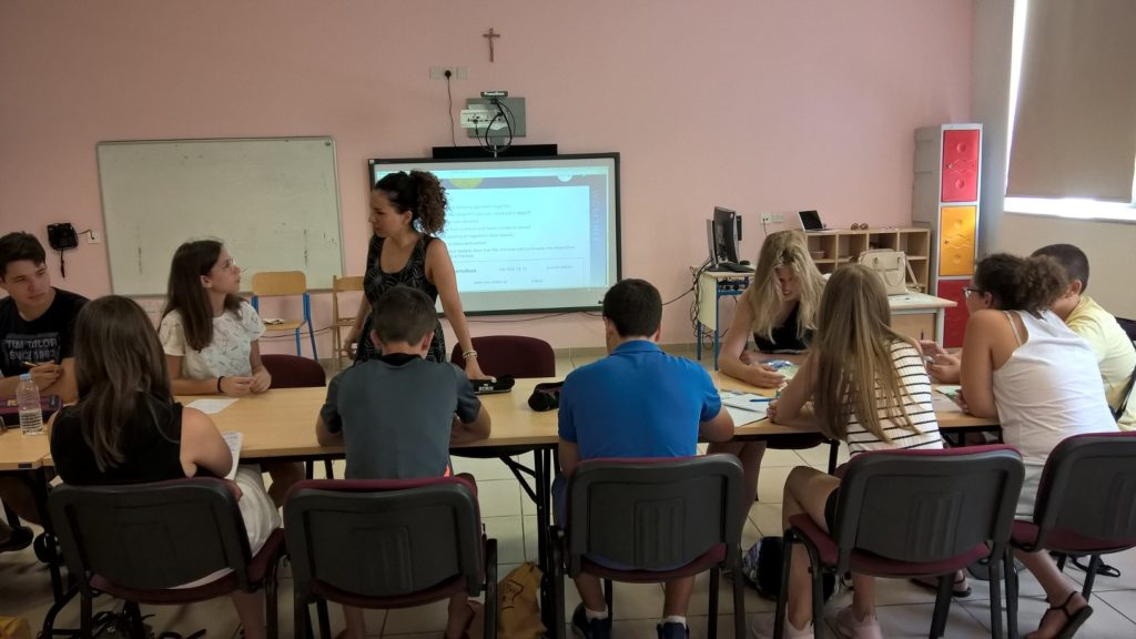 GSE Malta English courses for juniors Junior Programmes 2018 San Gwann School