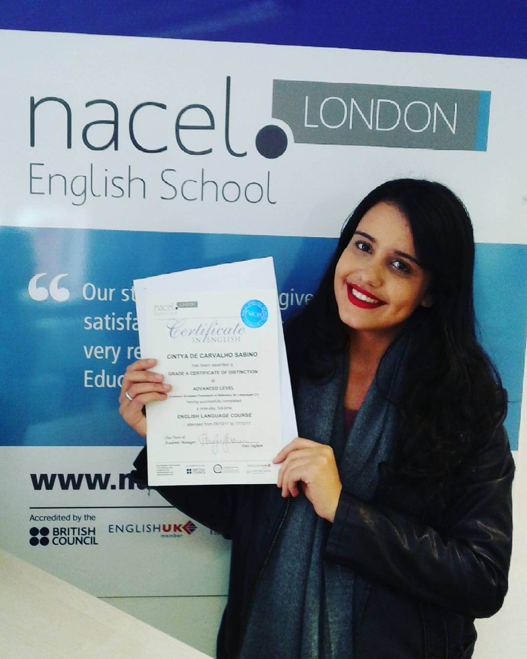 nacel londres etudiante student english school