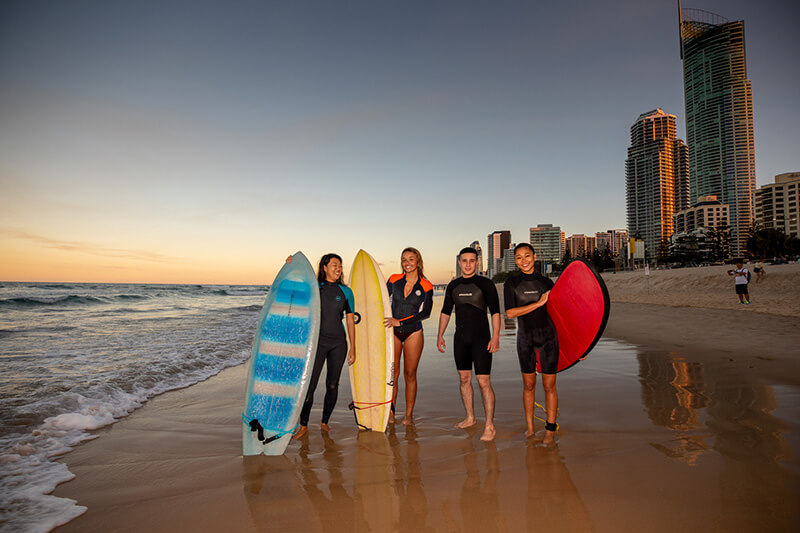 gold coast student surfing