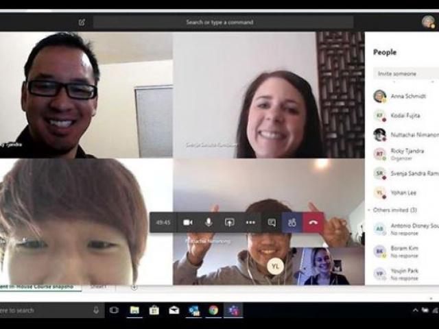 apprendre anglais webcam