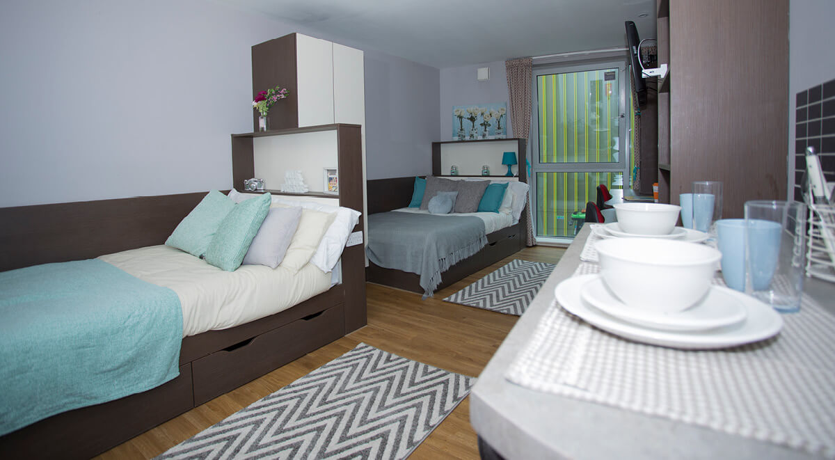 hawley crescent camden studio twin bedroom