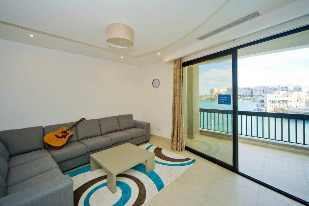 ef malta balluta bay residence salon sea view