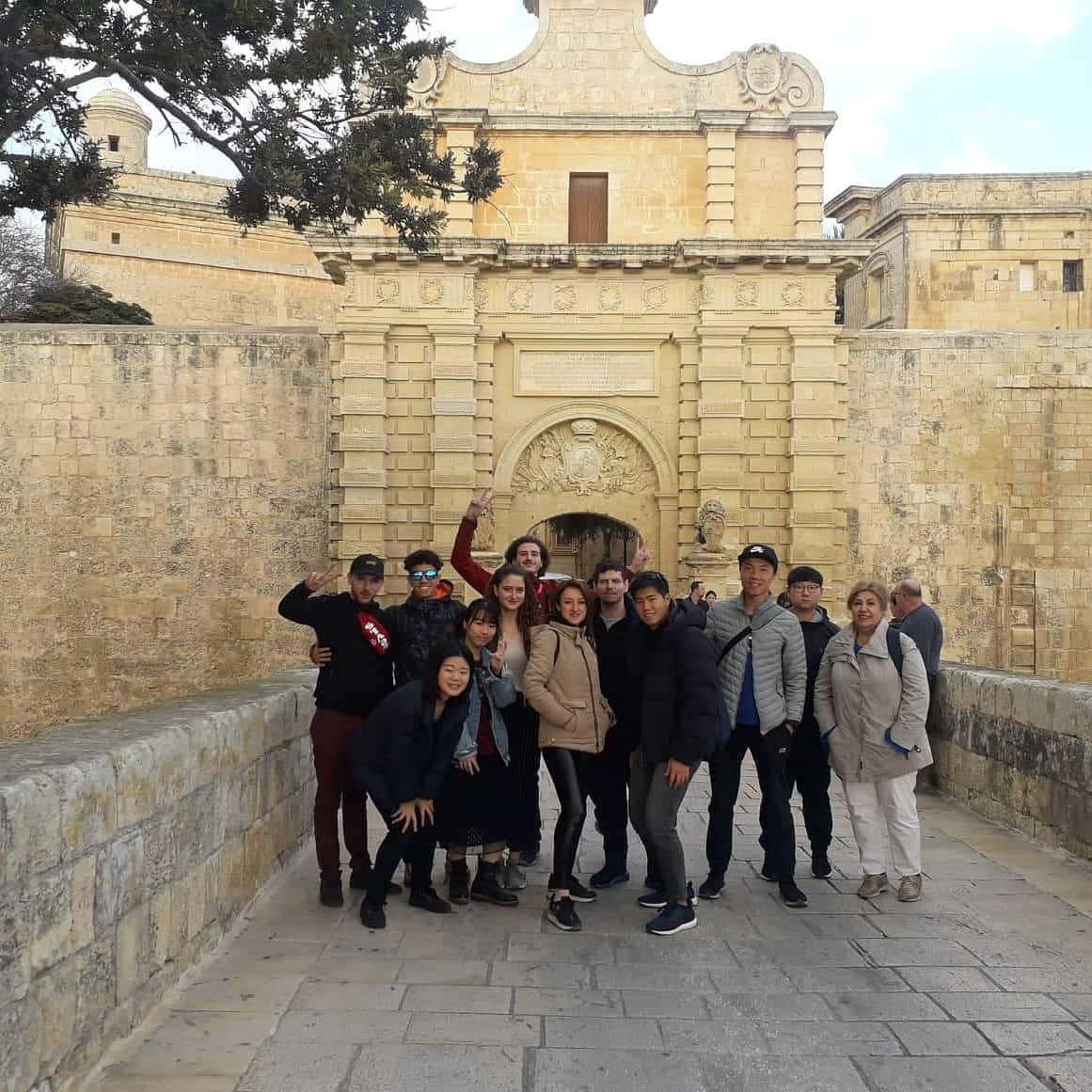 visit mdina with english school students