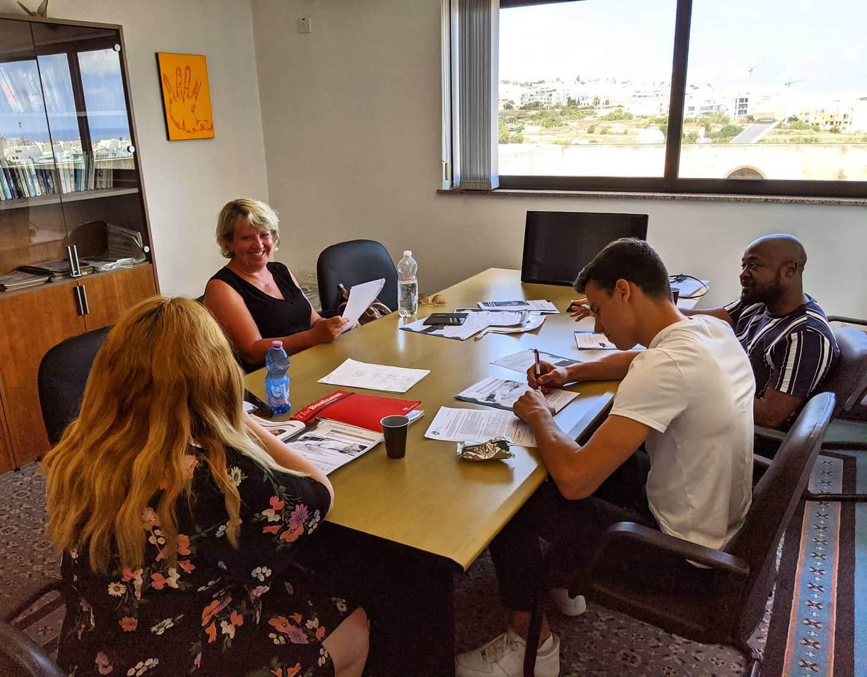 business english class malta