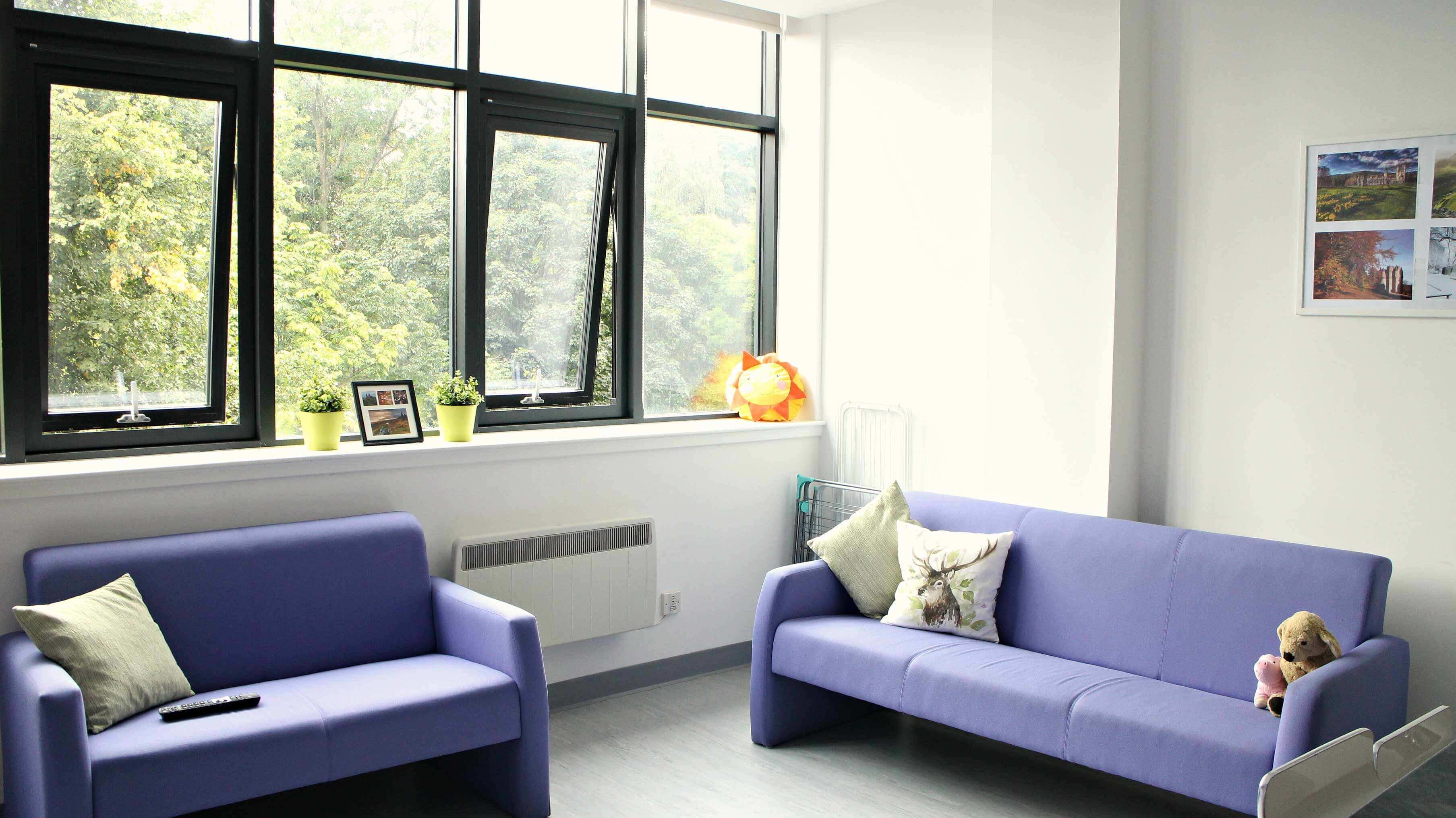 living area edited glasgow residence
