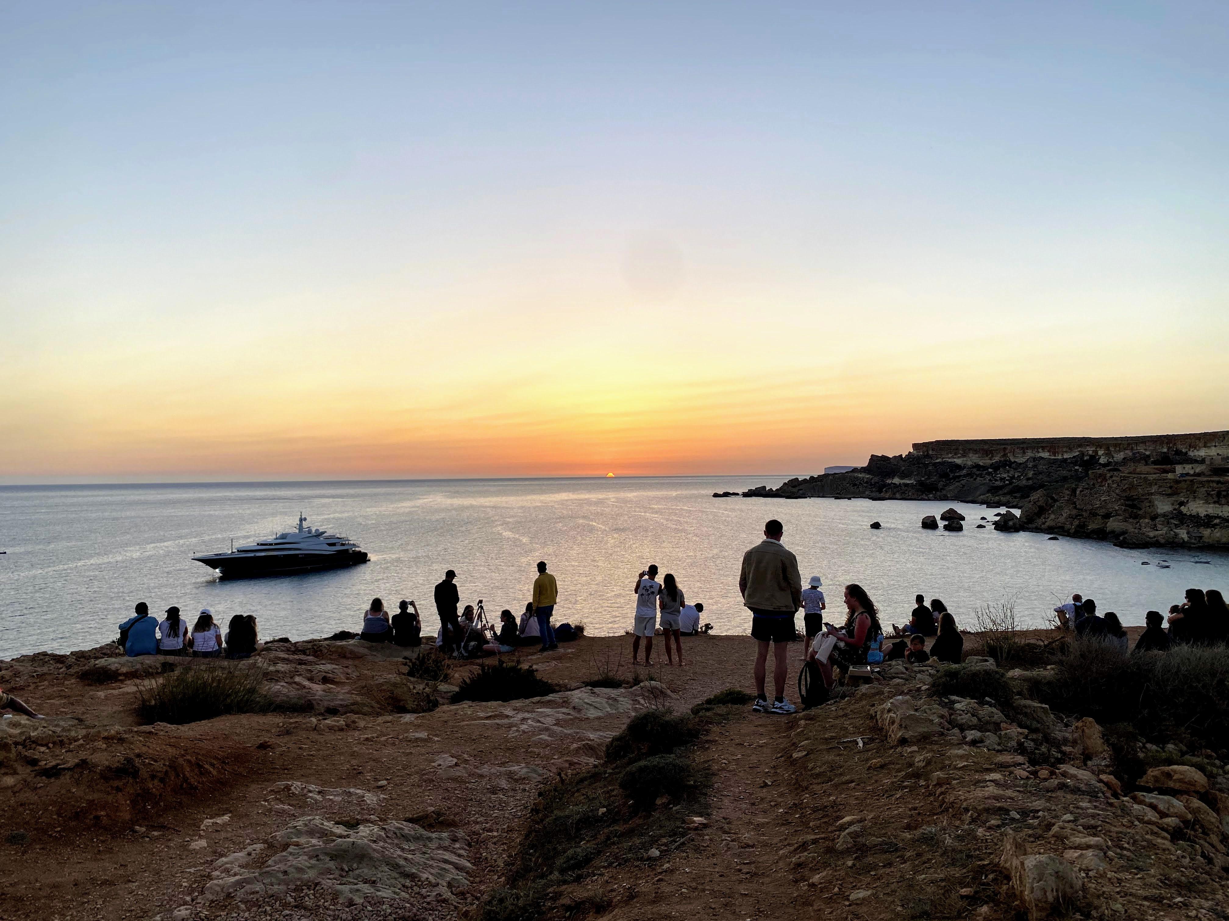 sunset golden bay malta