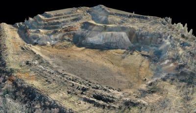 Bánya, földterület felmérése drónnal
