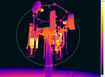 Rádiótorony ellenőrzése drónos hőkamerával