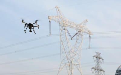 Elektromos vezetékek vizsgálata drónnal