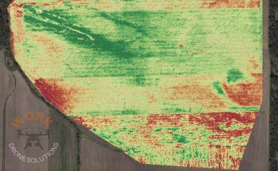 Mezőgazdasági terület felmérése drónnal és hőkamerával