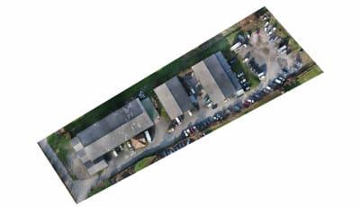 Orthofoto készításe drón felvételből