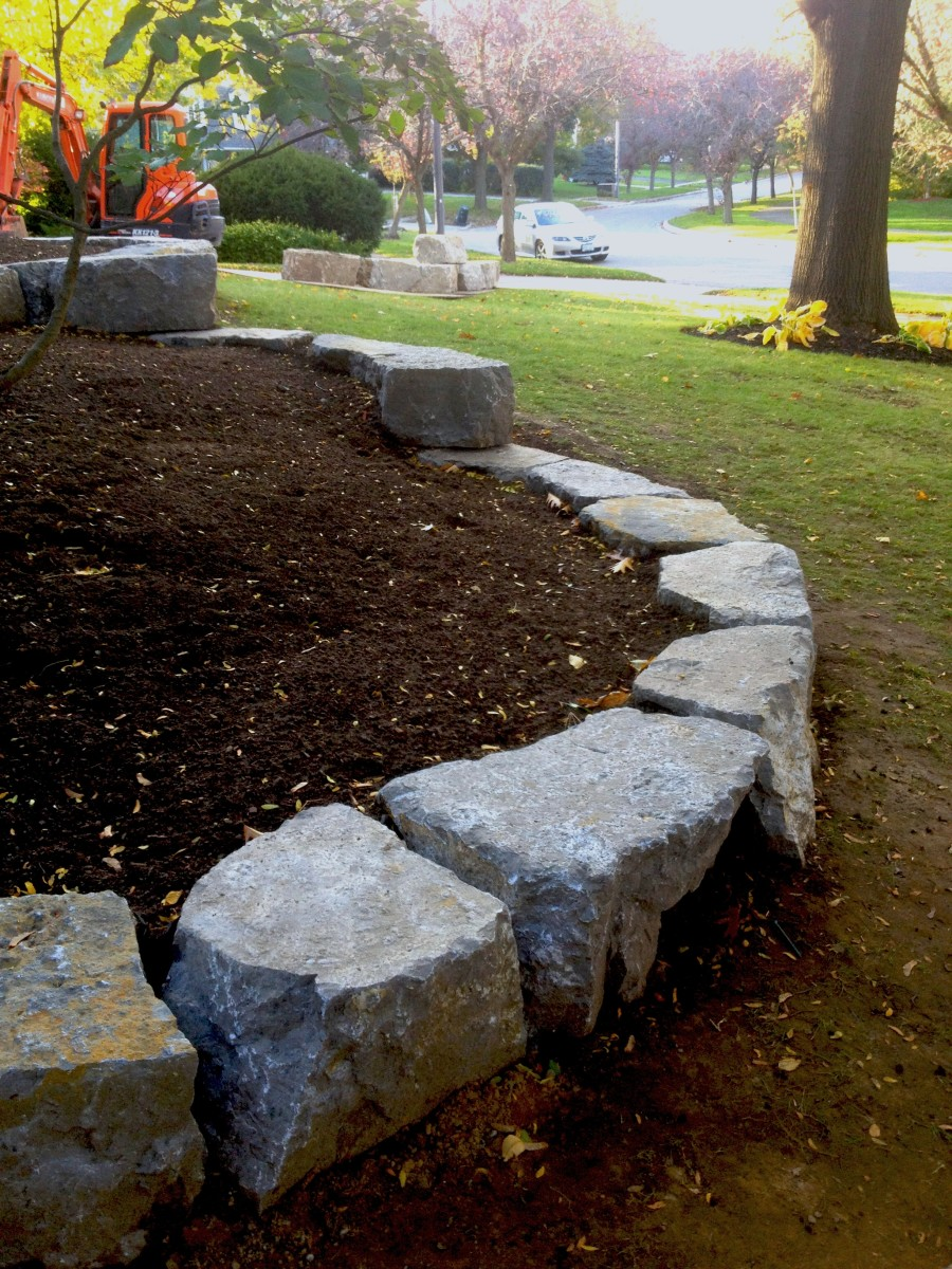 Armour stone rock northern grounds ltd mississauga for Landscape rock delivery near me