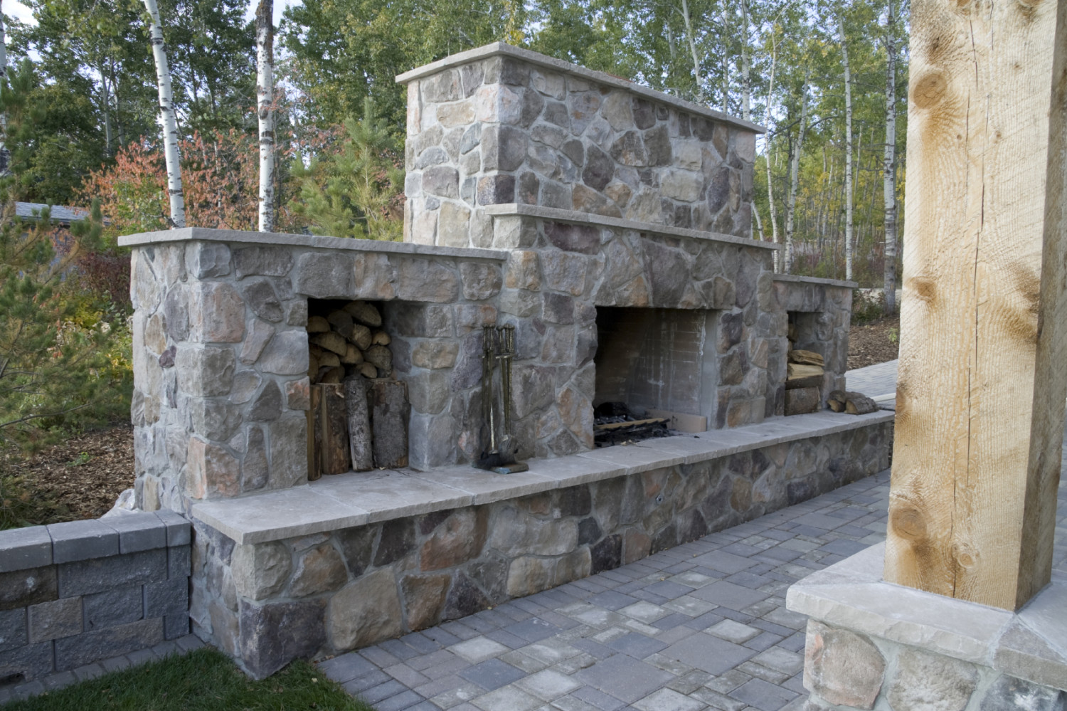 fireplaces and fire pits turning leaf landscapes burlington