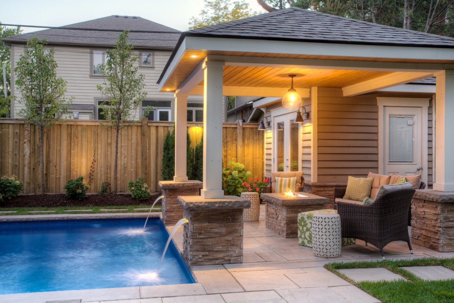 Pool cabanas sheds genesis woodworks burlington and for Pool houses and cabanas