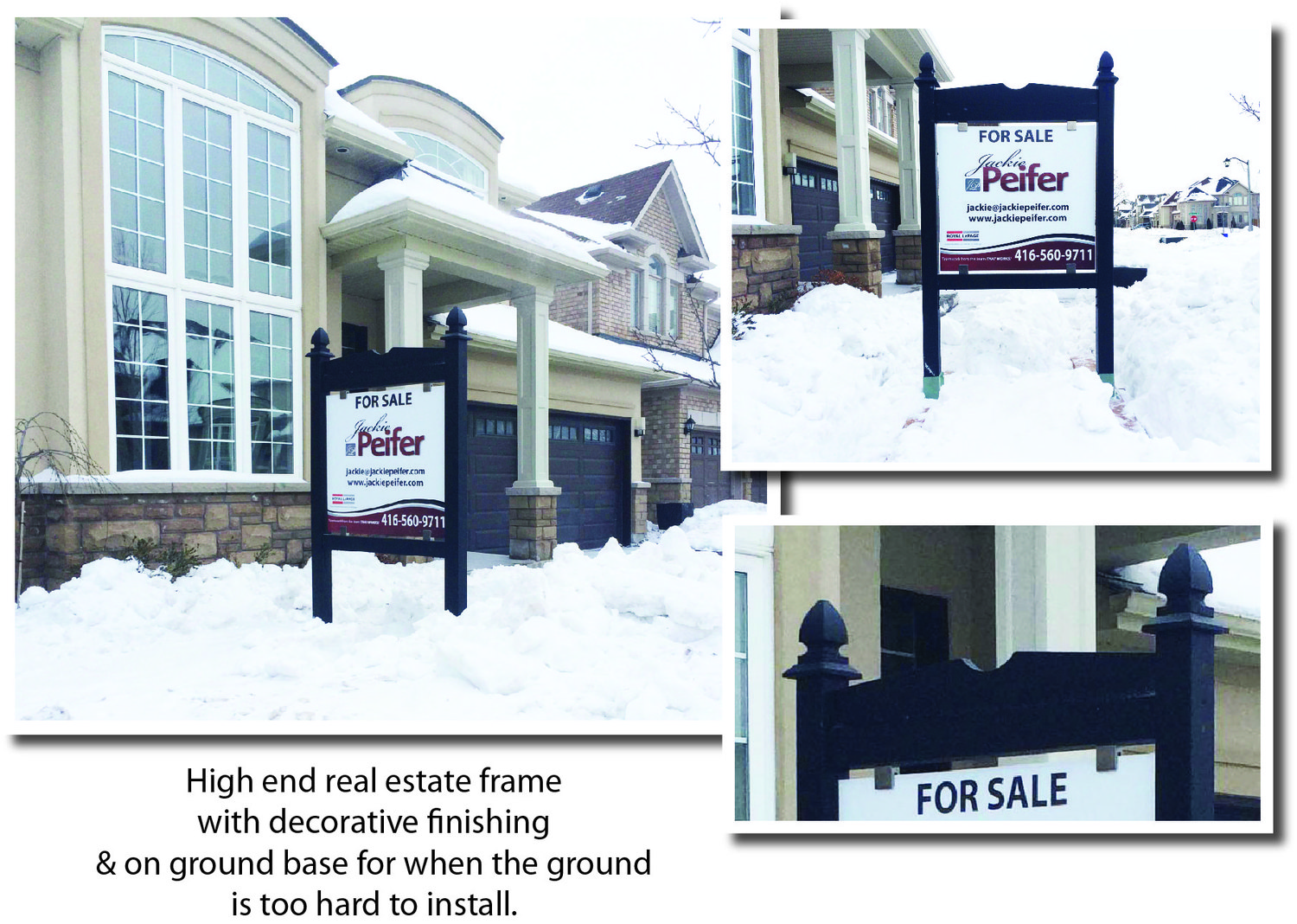 Real estate signs sign posts open house signs a frames for House sign designs