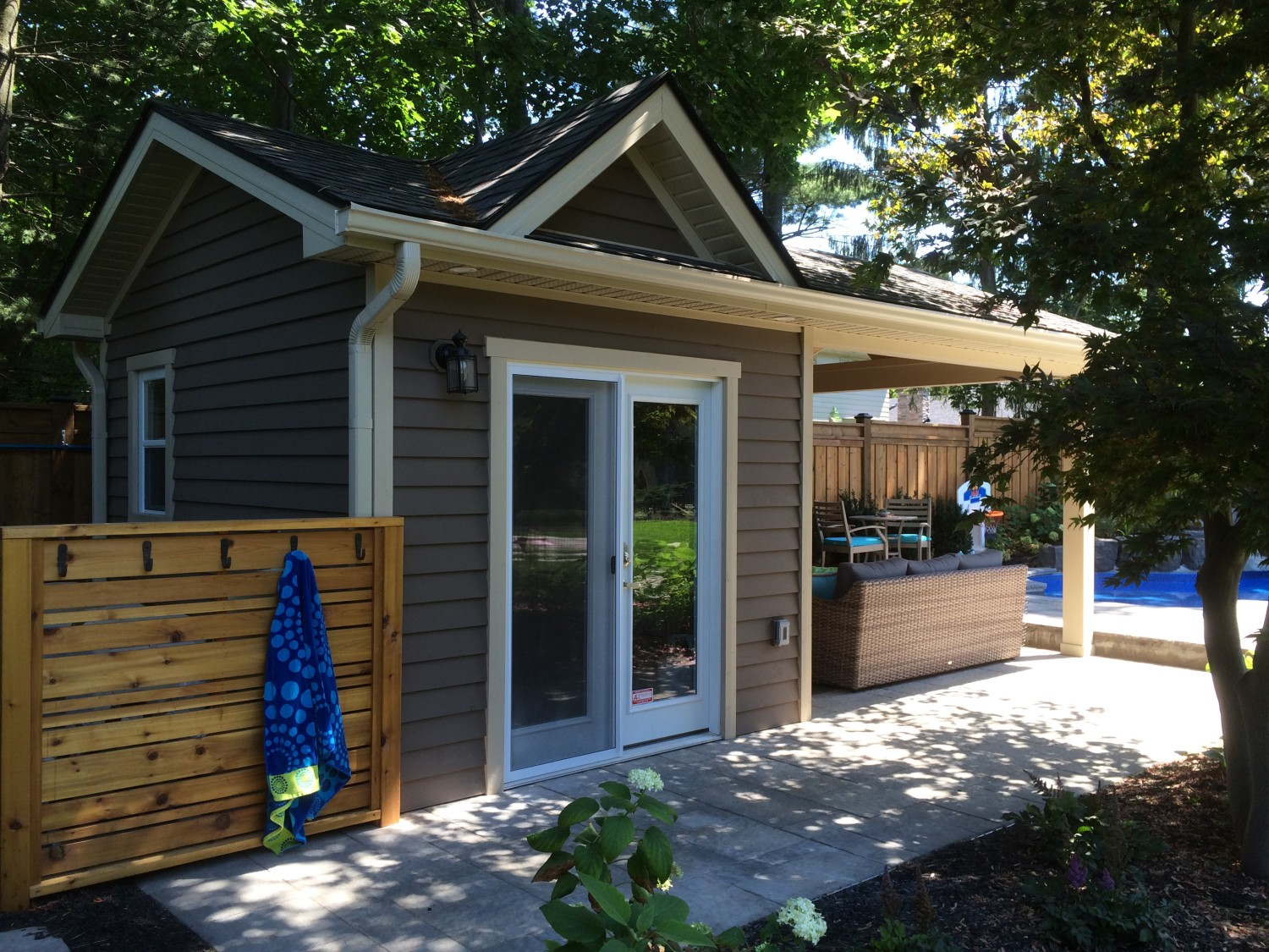 sheds cabana pool summerstyle building garden five toronto shed backyard corner sided house tag equipment
