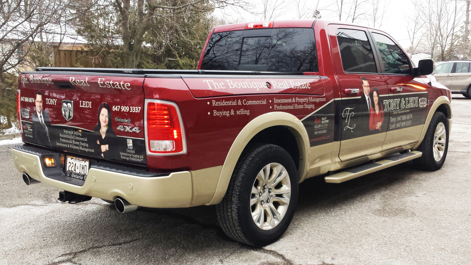 Realtor truck digitial graphics ford f150 mississauga ontario