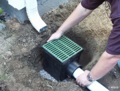 Downspout Catch Basin Installation