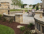Open-air retaining walls