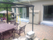 I had to remove all 4 sliding doors for this client to have the foundation properly done, here i am reinstalling them