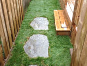 Added a few stepping stones to deck step