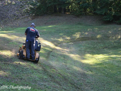 Lawn cut (Boxford, MA) - We have the proper equipment to cut any surface no matter how steep)