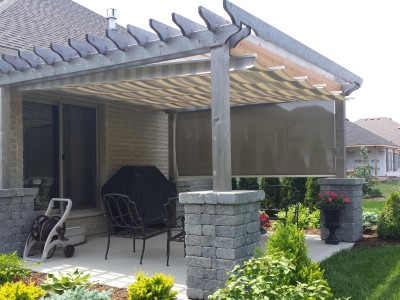 ShadeFX canopy with Stobag Side Shade completes the layout