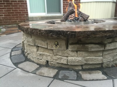 Fire features extend outdoor living right through the fall